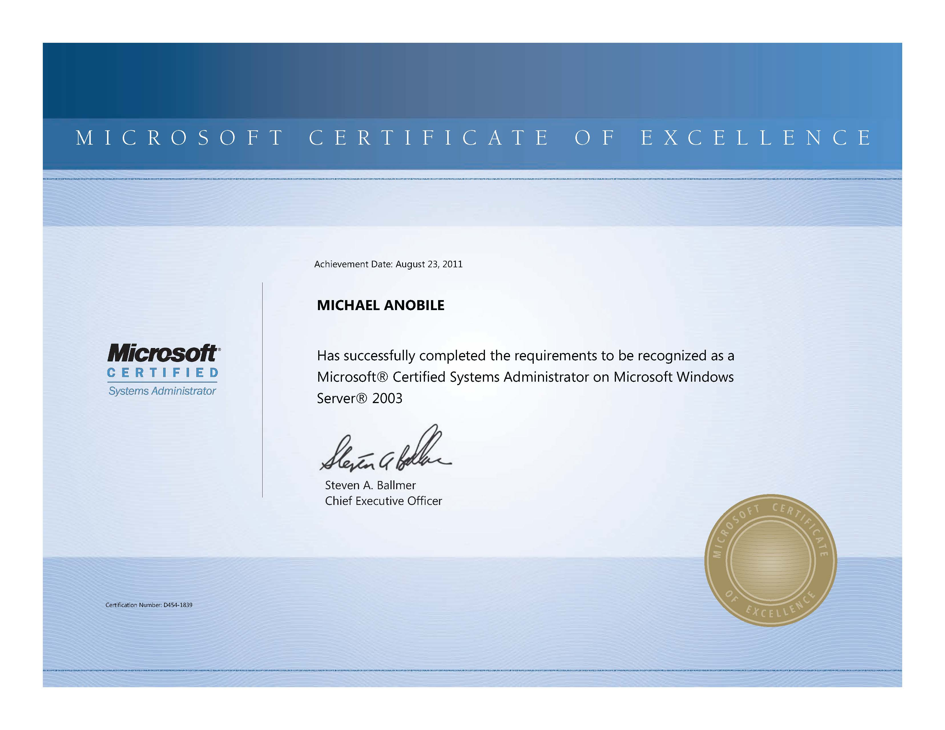 Mcsa server 2003 mikes blog october 13 2012 3311 2559 certifications 1betcityfo Image collections